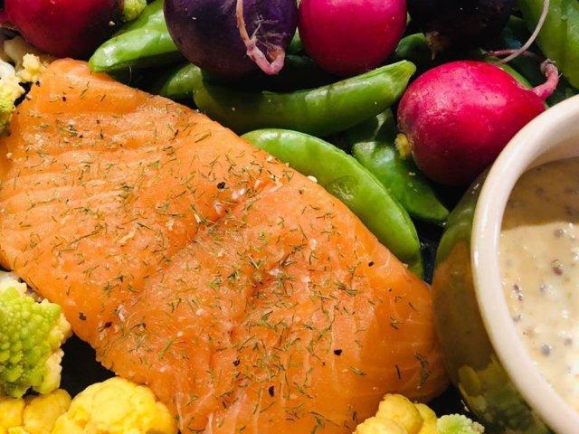鎌倉野菜と発酵サーモン