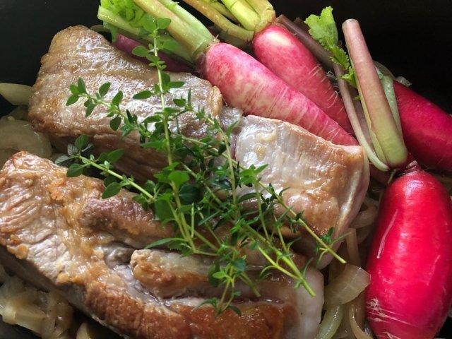発酵豚肉のブレゼ