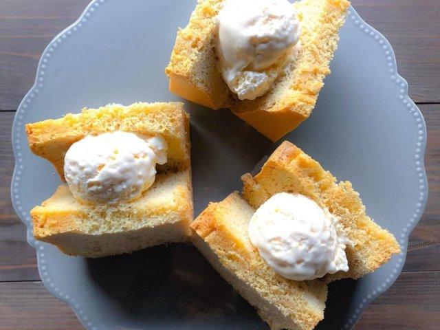 低糖質シフォンケーキ&低糖質アイスクリーム