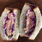 低糖質パンで発酵サンドイッチ